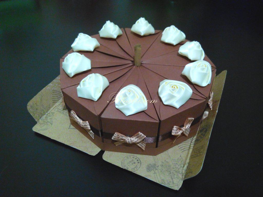 Бумажный тортик своими руками
